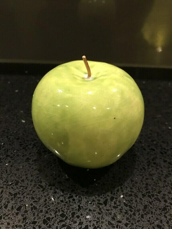Ceramic apple in light green