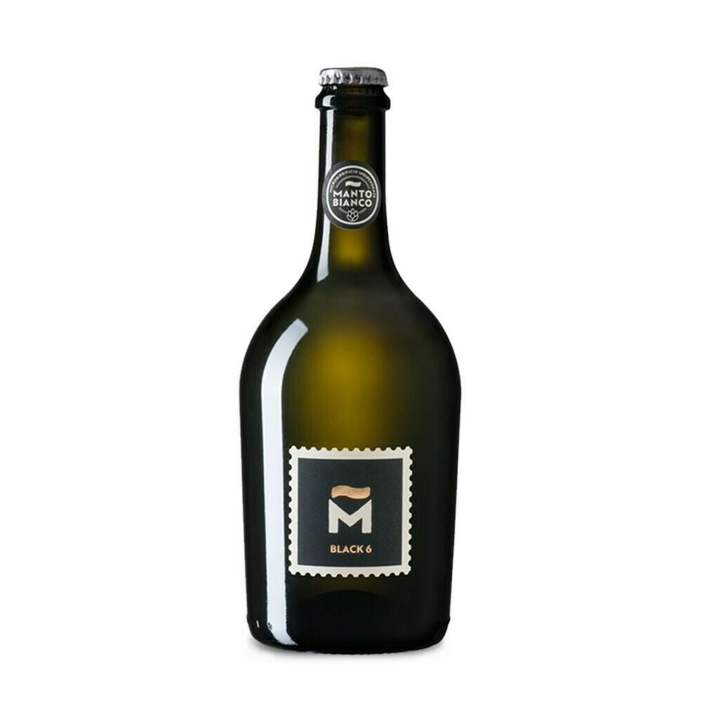 """Birra Artigianale """"Black 6"""" - Manto Bianco"""