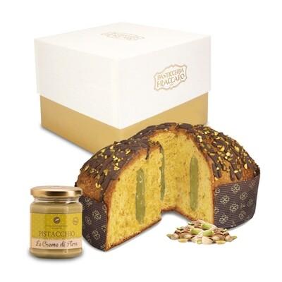 Panettone Pistacchio + Crema spalmabile al pistacchio  | 750gr