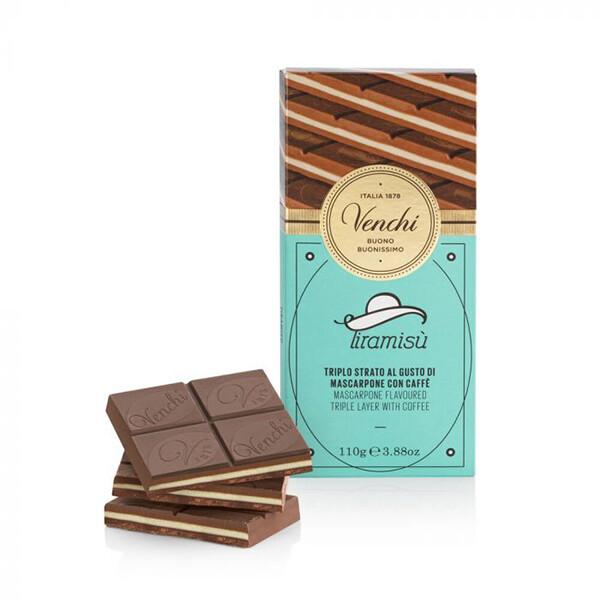 Tavoletta cioccolato al latte al tiramisù Venchi g 100