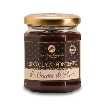 Crema spalmabile al cioccolato fondente VEGAN Le creme di Piera 220 g