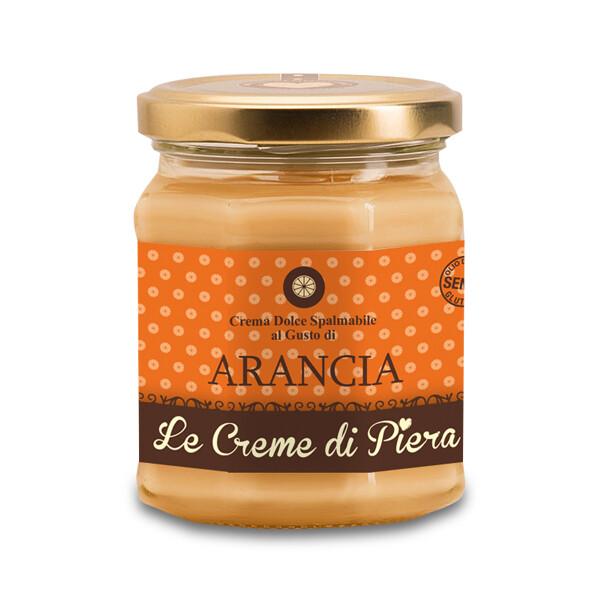 Crema dolce spalmabile al gusto di  Arancia