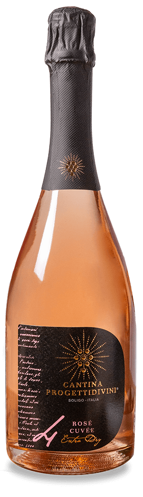 SPUMANTE ROSATO | Cuvee rosè extra dry Cantina Progettidivini
