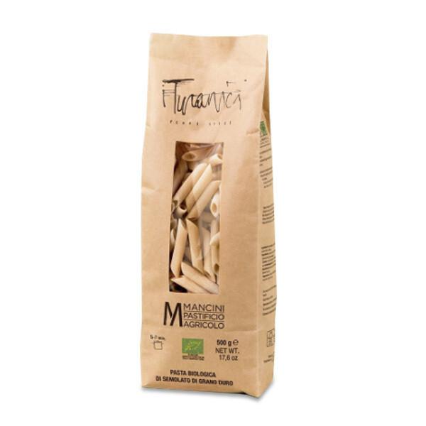 PASTA | Penne lisce Grani Turanici 500 g - Pastificio Mancini
