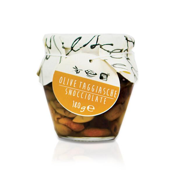 SOTT'OLIO | Olive Taggiasche snocciolate in olio EVO I sapori dell'arca 180 g