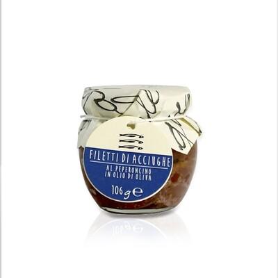MARE | Filetti di acciuga al peperoncino I sapori dell'arca 106 g