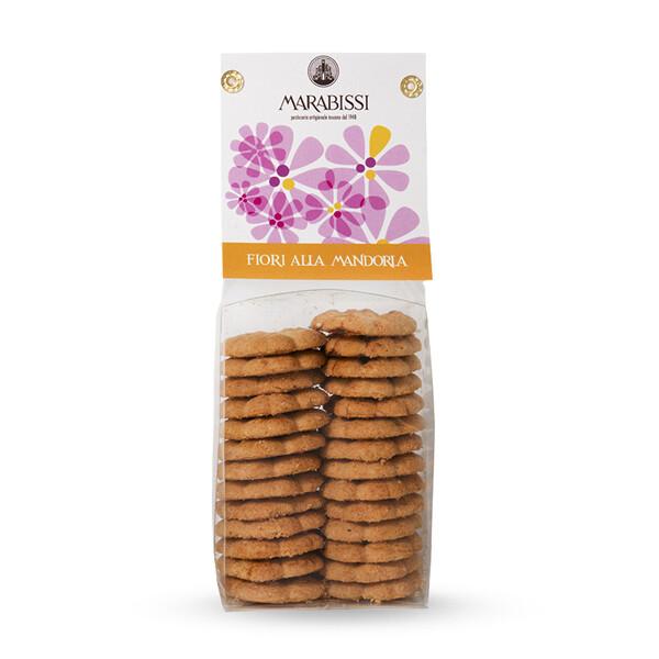 Biscotti fiori alla mandorla 130 g - Marabissi