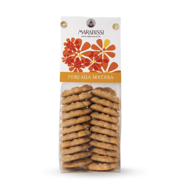 Biscotti fiori alla nocciola 130 g - Marabissi