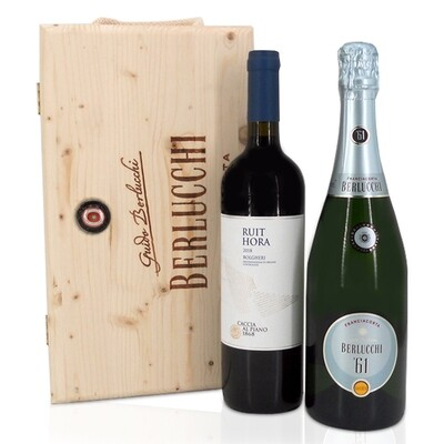 CASSETTA LEGNO BERLUCCHI | 2 bottiglie