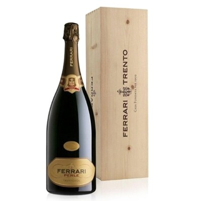 BOLLICINE | Trento D.O.C. FERRARI PERLE' 1500 ml CASSETTA LEGNO Cantina Lunelli
