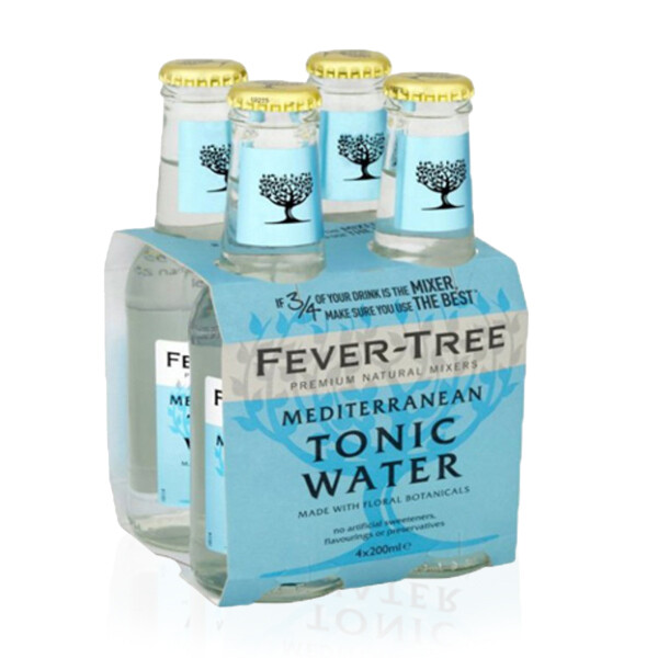 ACQUA TONICA | MEDITERRANEAN Fever Tree 4 x 200 ml