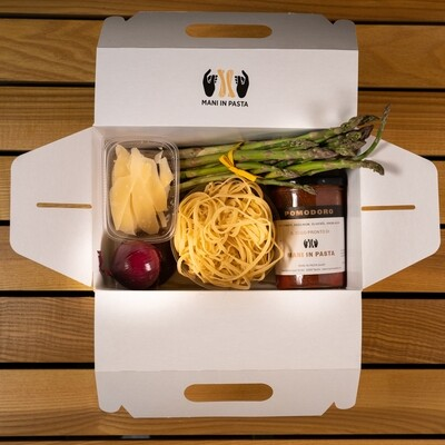 Mani in Pasta's Box.1 for 2 People