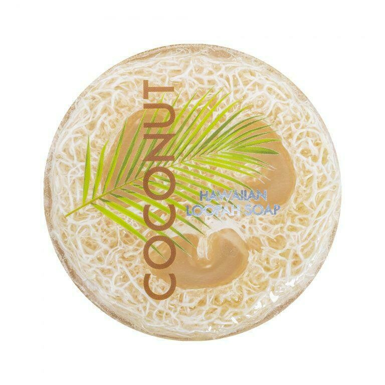 Coconut Sea Salt & Kukui Exfoliating Loofah Soap 4.75oz