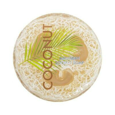Coconut Sea Salt & Kukui Exfoliating Loofah Soap 4.75oz