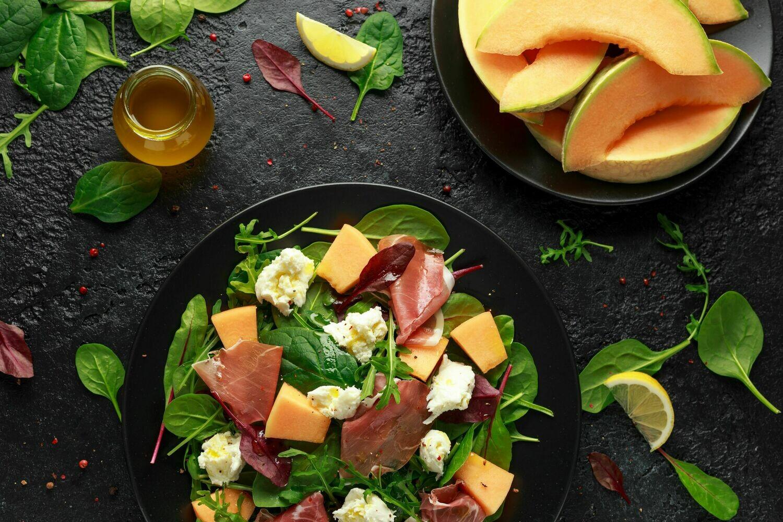 Parma Ham, Rock Melon & Cheese Salad