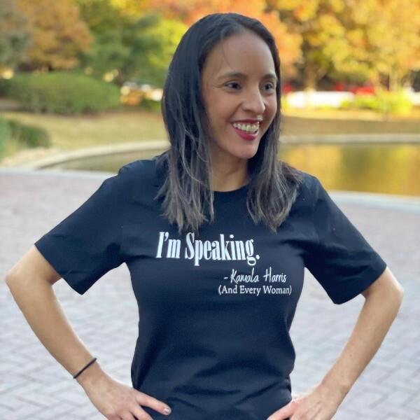"""I'm Speaking"" Black T-Shirt"