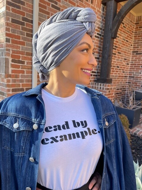 """""""lead by example."""" White T-Shirt"""