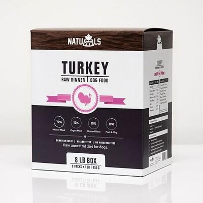NatuRAWls FZN Dog Turkey 8x454gr-8lb