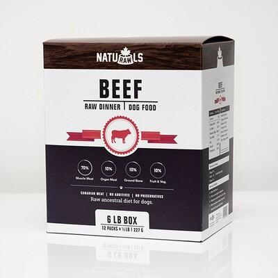 NatuRAWls FZN Dog Beef 12x227gr-6lb