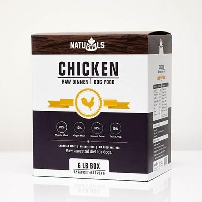 NatuRAWls FZN Dog Chicken 8x454gr-8lb