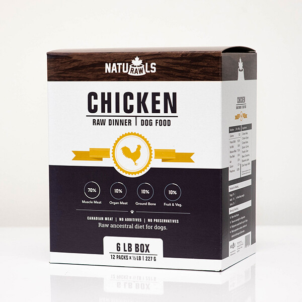 NatuRAWls FZN Dog Chicken 12x227gr-6lb