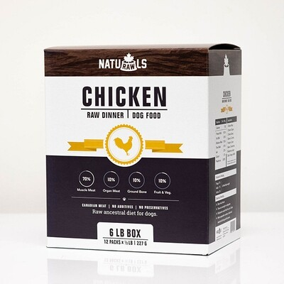 NatuRAWls FZN Dog Chicken 12x227gr-6lb