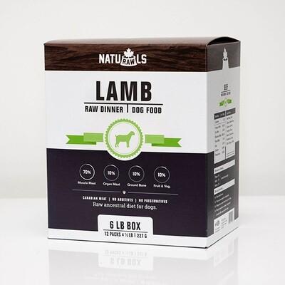NatuRAWls FZN Dog Lamb 8x454gr-8lb