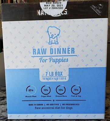 NatuRAWls Puppy Dinner 7lb box - 14x 8oz