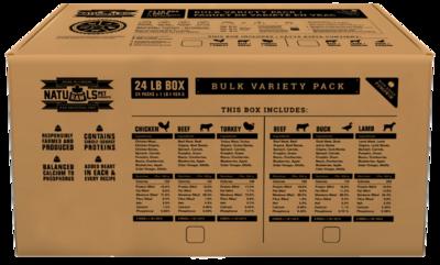 NatuRAWls Bulk Variety Prem. Lamb, Duck & Beef 3x-8x454g - 24lb