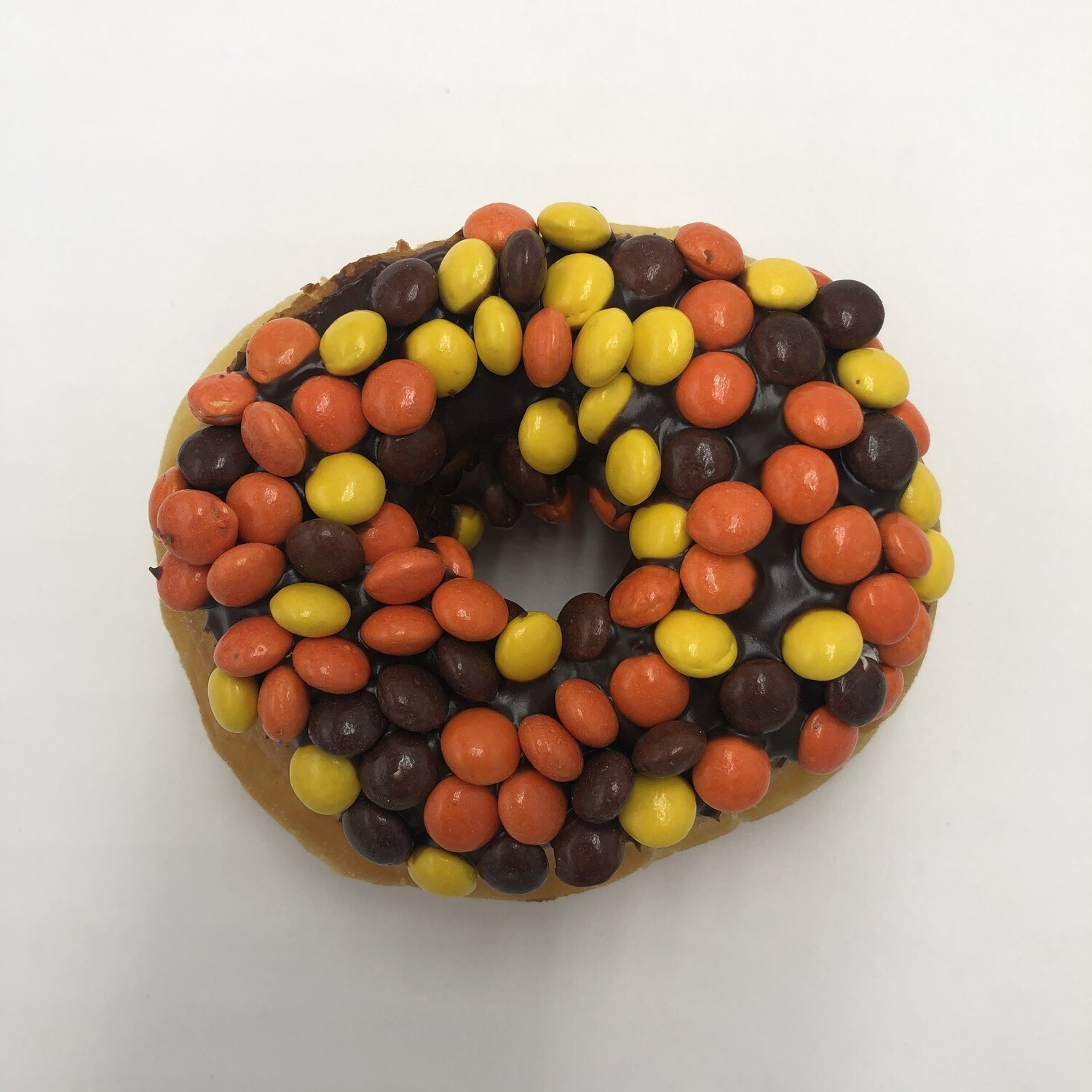 Reese's Pieces Yeast Raised Donut