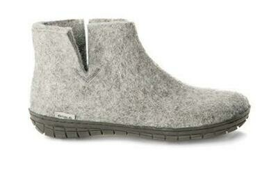 GLERUPS - Low Boot Rubber Sole - Grey