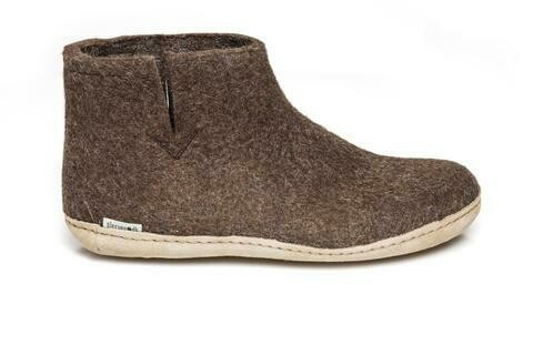 GLERUPS - Low Boot Leather Sole - Brown