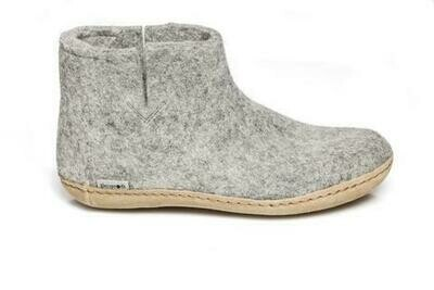 GLERUPS - Low Boot Leather Sole -  Grey