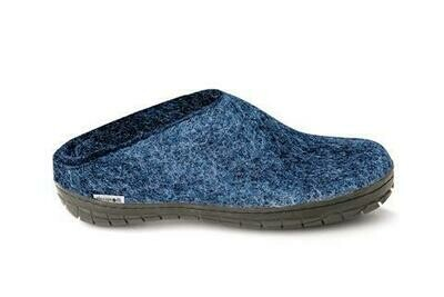 GLERUPS - Slipper Rubber Sole - Denim