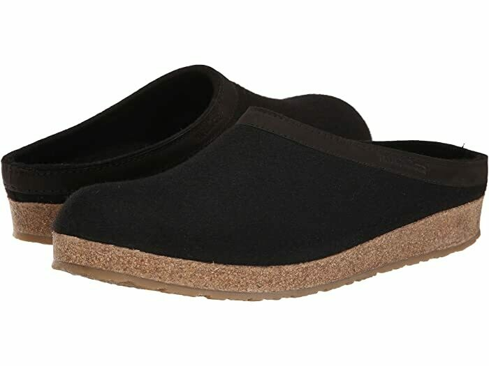 HAFLINGER - GZL Leather Trim Grizzly - Black