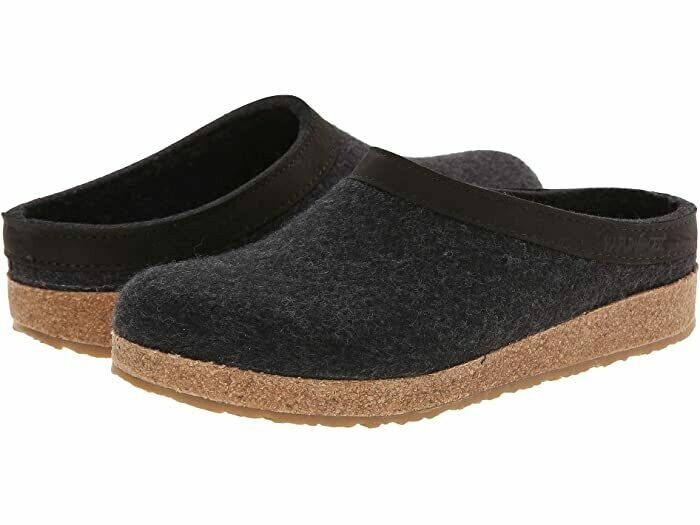 HAFLINGER - GZL Leather Trim Grizzly - Charcoal