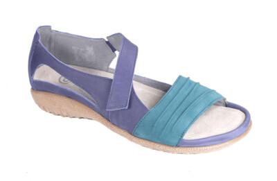 NAOT - Papaki - Blue Leather/Teal Nubuck