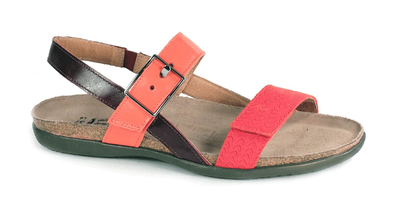 NAOT - Norah - Sliced Red/Orange/Bordeaux Leather