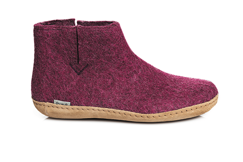 GLERUPS - Low Boot Leather Sole - Cranberry
