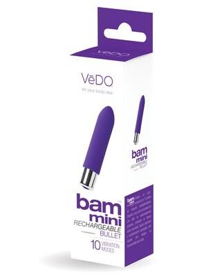 VeDO Bam Mini Rechargeable Bullet Vibe Into You Indigo