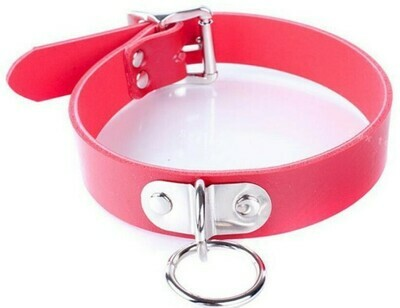 D Ring Collar Red