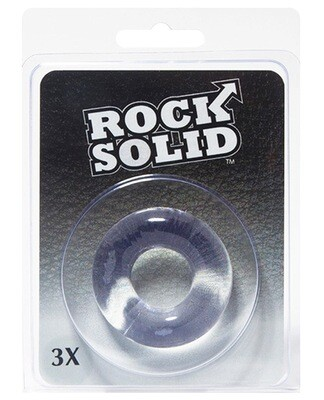 "Rock Solid Donut Ring 3"" Clear"