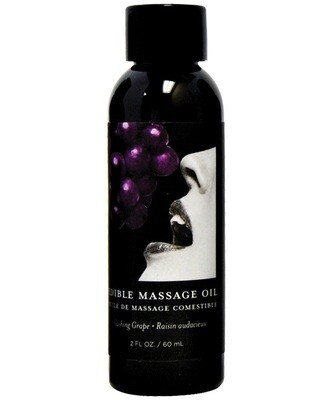 Earthly Body Edible Massage Oil Grape 2oz.