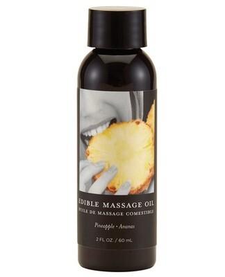 Earthly Body Edible Massage Oil Pineapple 2oz.
