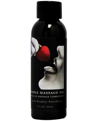 Earthly Body Edible Massage Oil Strawberry 2oz.