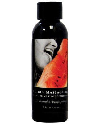 Earthly Body Edible Massage Oil Watermelon 2oz.