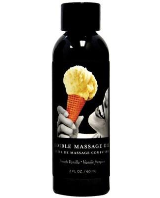 Earthly Body Edible Massage Oil Vanilla 2oz.
