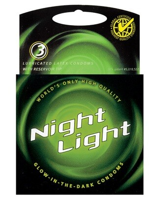 Glow-In-The-Dark Condoms 3pk