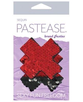 Pastease Flip Sequin X Black & Red