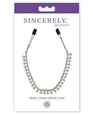 Midnight Pearl Chain Clips